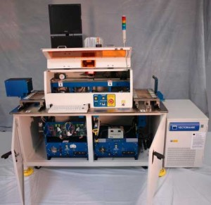 CAPACITORS2 Handler PC on left | Machine vision PC on right | Laser PC in OEM cabinet