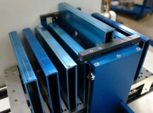 CAPACITORS4 Movable table holds 8 magazines