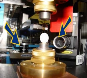 PRESSURE SENSOR ASSEMBLY I Camera 1 for device orientation   Camera 2 for device alignment at assembly