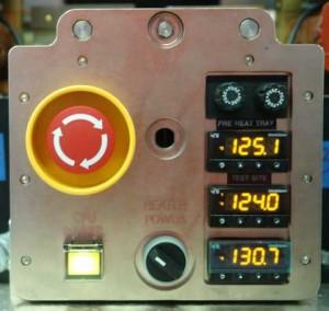 THERMALDISPLAY2 Preheat tray displayed at 125° C | Hot test sites displayed at 124° & 130° C