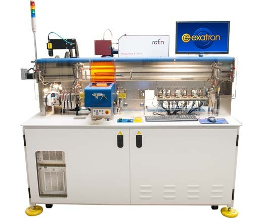 Model 901 Smart Queue Program Handler with 32 Programming Sites, 8 Verify Sites, 2 Quad Pickup Heads, Laser Marking, Top-side and Tape Inspection, and Tape In/Out