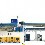 Model 7000 Rotary LED Test Handler with Tray Input, Laser Marking, and Tube Output – Combines pick and place, rotary, and gravity feed handling methods in on machine